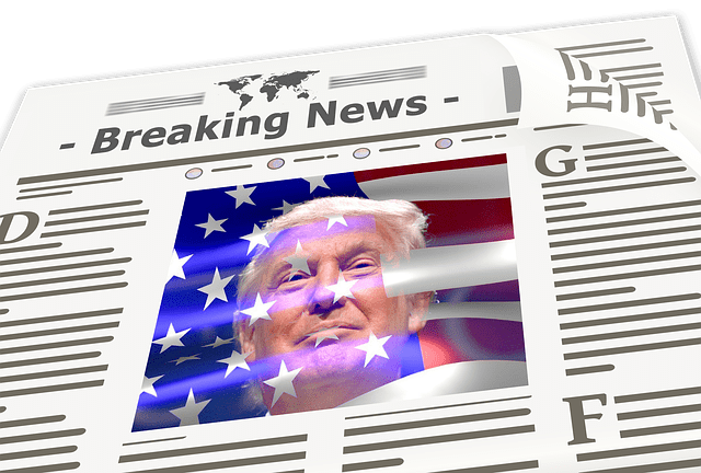 Trump in the newspaper