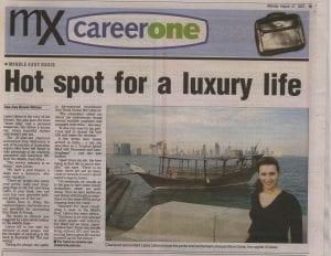 Liana in a newspaper