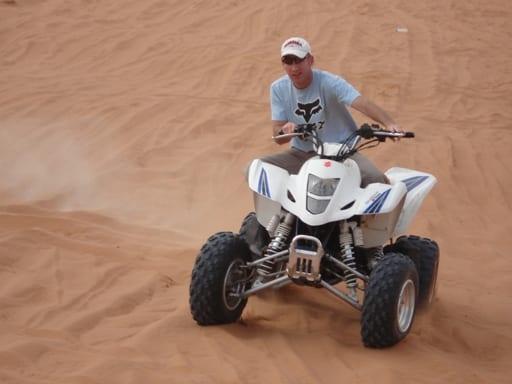 Eddie on sand dunes