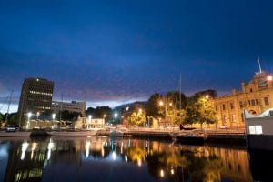 Hobart Docks at night